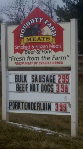 Doughty Farm Sign